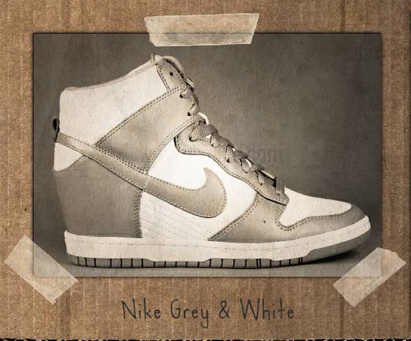 nike grey white