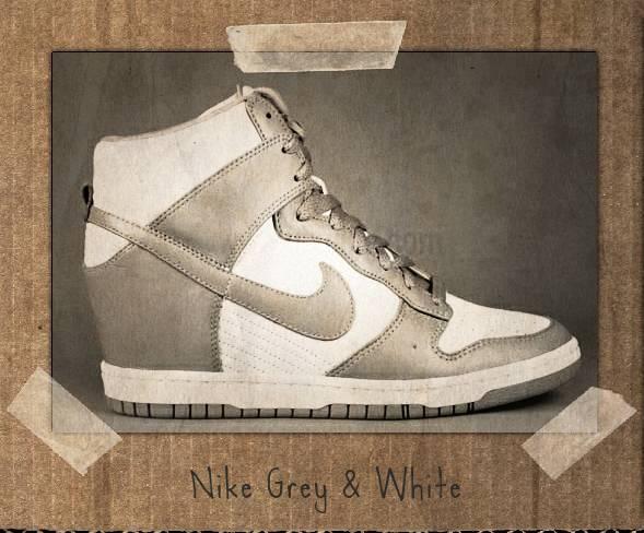 nike grey white