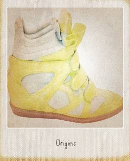 Sneaker jaune