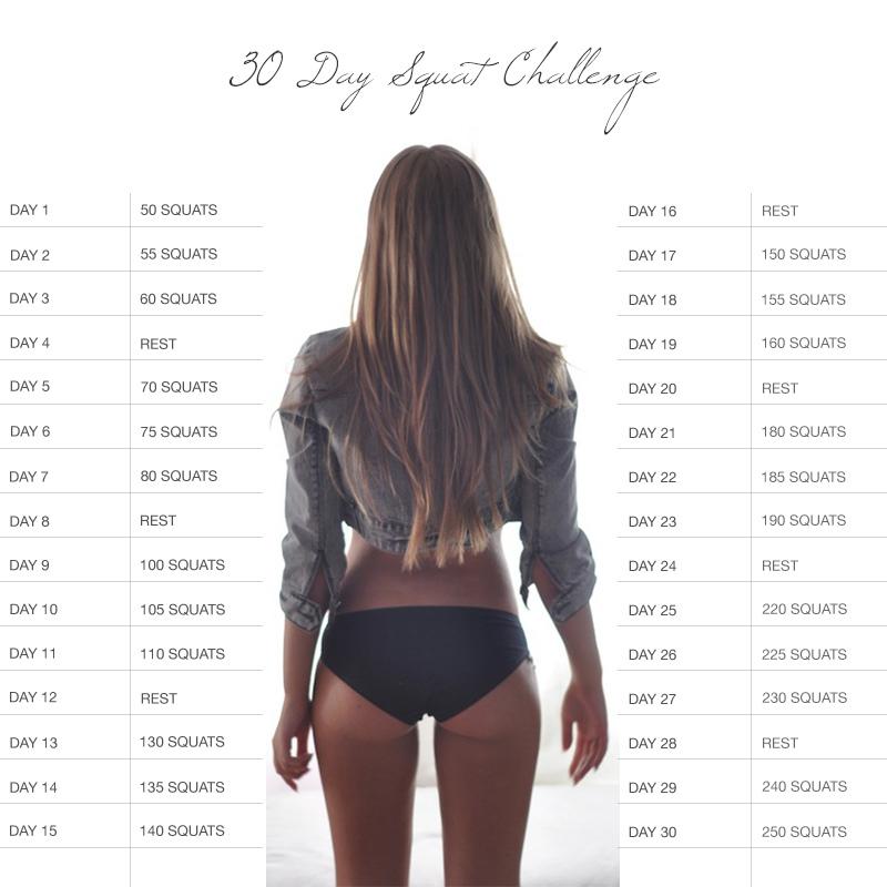 squat challenge butt