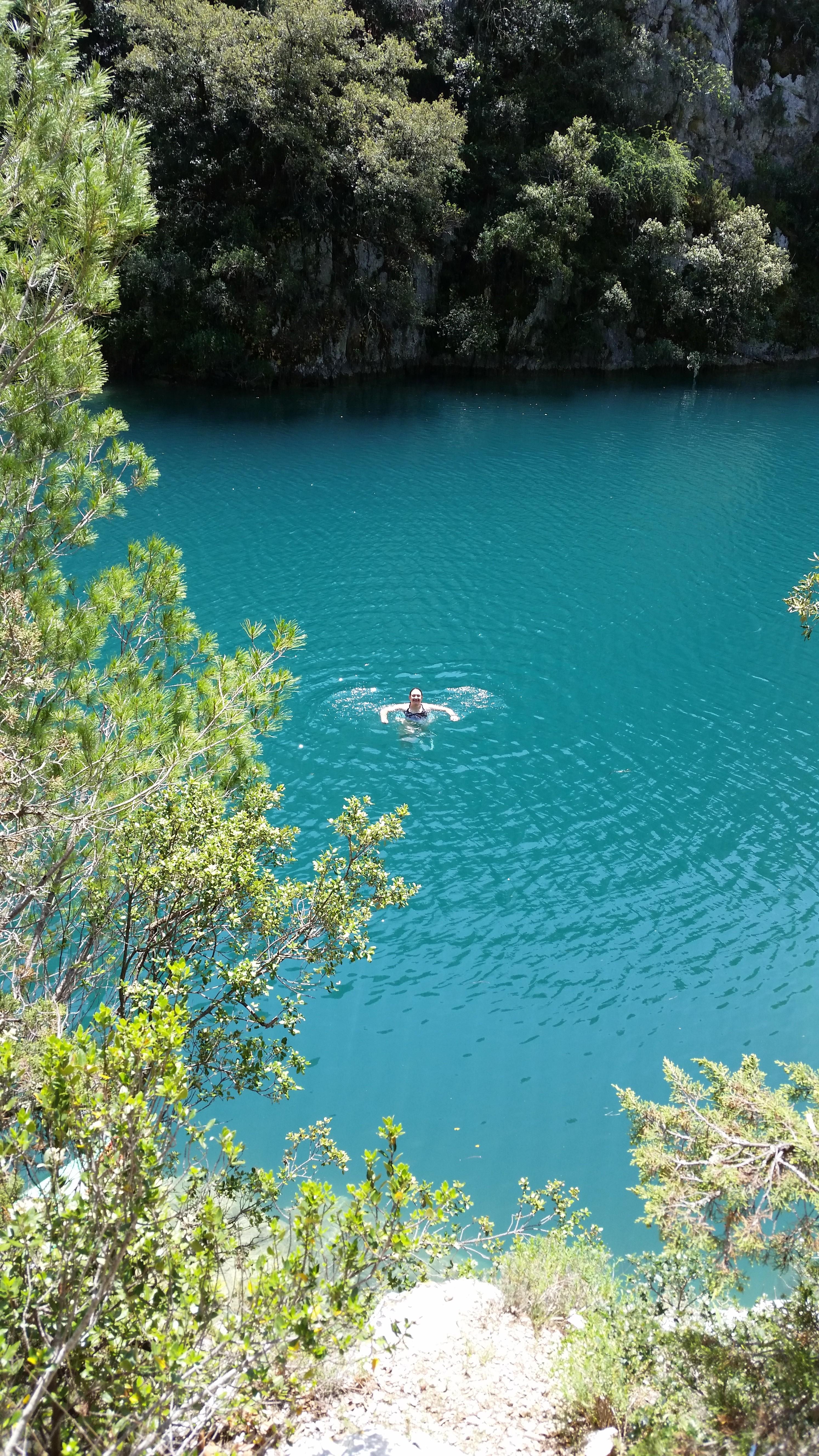 Une eau vers 20 ou 21°, le paradis bleu